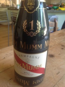 GHMumm grand prix bottle
