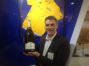 Pascal Prudhomme general manager of De Castelnau with the jeroboam of 1990