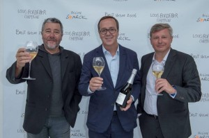 Philippe Starck, Frederick Rouzaud and Jean-Baptiste Lecaillon at the launch in Paris