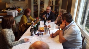 The panel discuss the wines