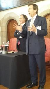 Pierre-Emmanuel Taittinger and Patrick McGrath announcing the investment