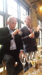 Eric tastes while Olivier Krug talks
