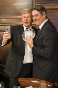 Jean-Baptiste Lecaillon and Benoit Gouez pose for award winning selfie